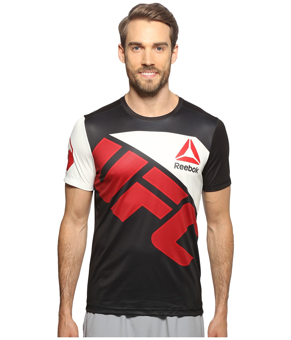 Reebok - UFC Jersey (Black/Chalk2) Men's Clothing