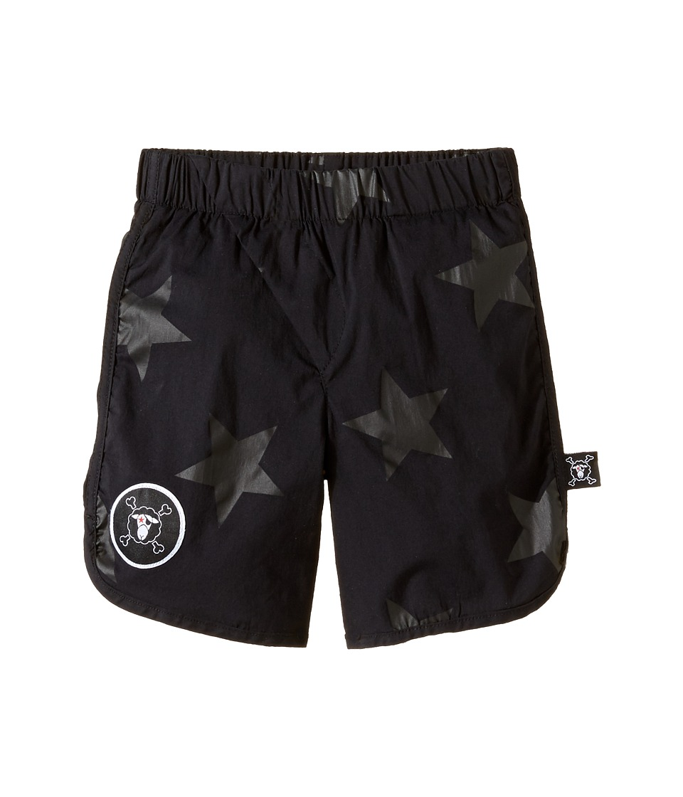 Nununu - Star Surf Shorts (Toddler/Little Kids) (Black) Girl's Swimwear