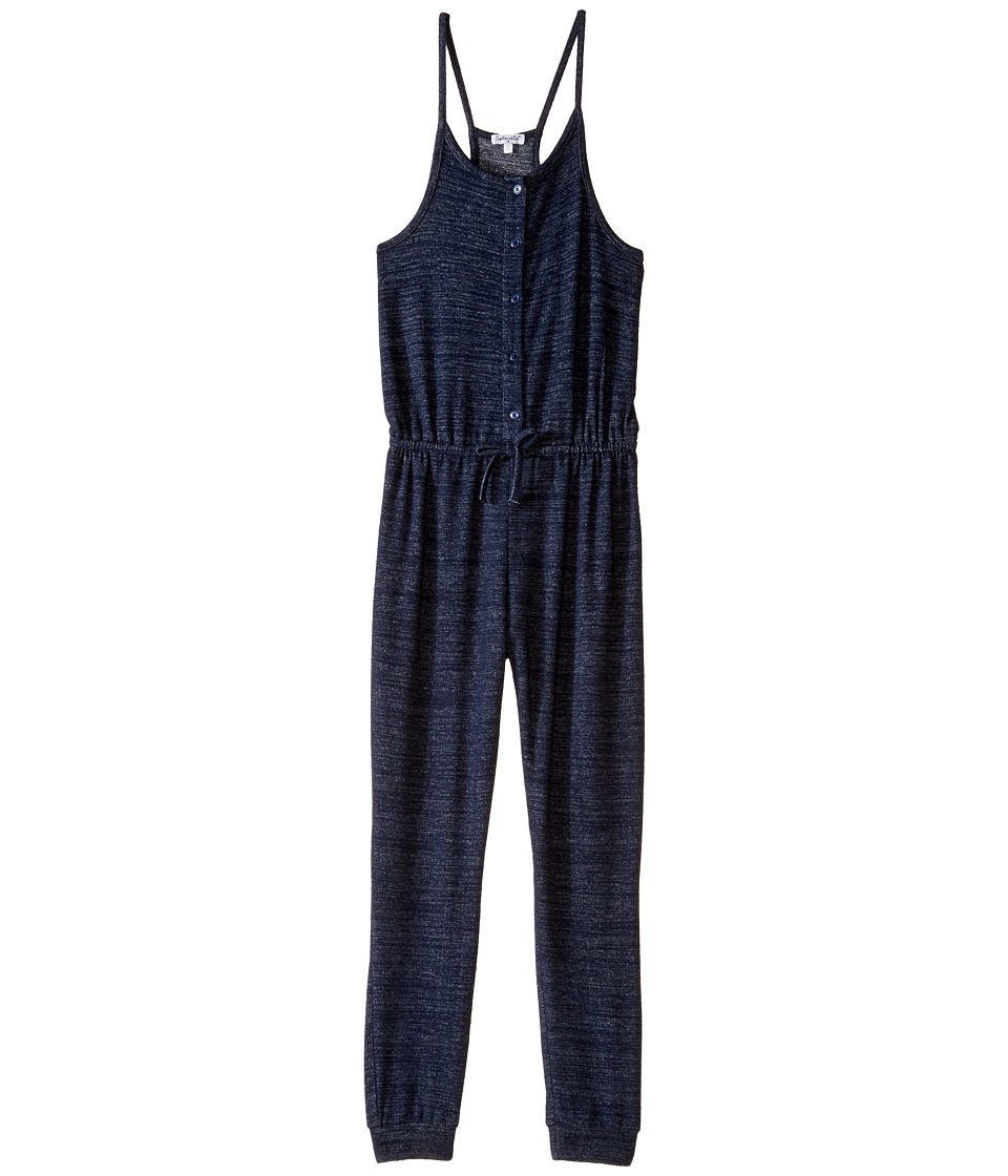Splendid Littles - Loose Knit Romper (Big Kids) (Indigo) Girl's Jumpsuit & Rompers One Piece