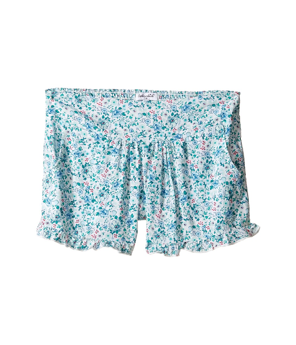 Splendid Littles - All Over Print Shorts (Big Kids) (Aqua) Girl's Shorts