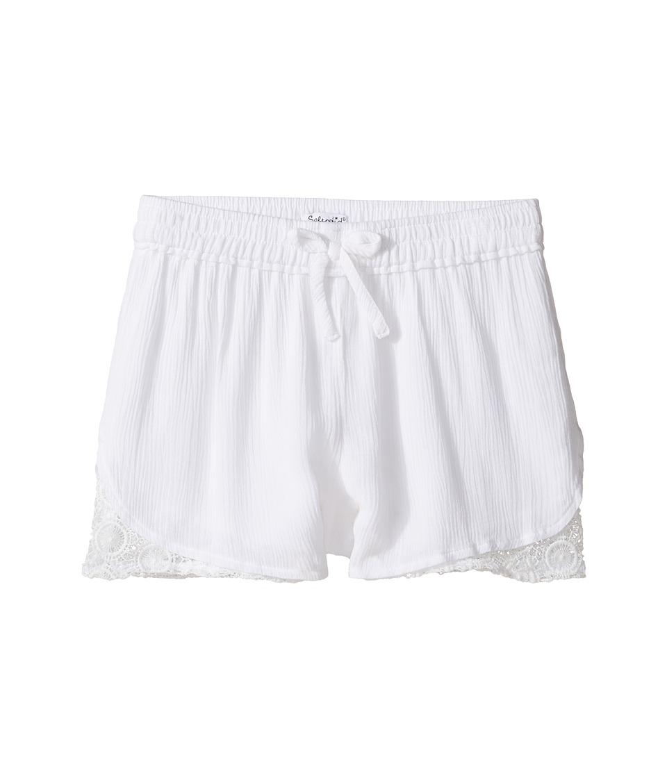 Splendid Littles - Gauze Lace Trim Shorts (Big Kids) (White) Girl's Shorts