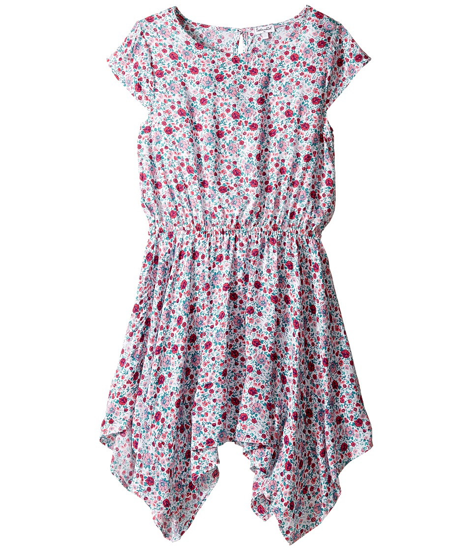 Splendid Littles - All Over Print Dress (Big Kids) (Dark Coral) Girl's Dress