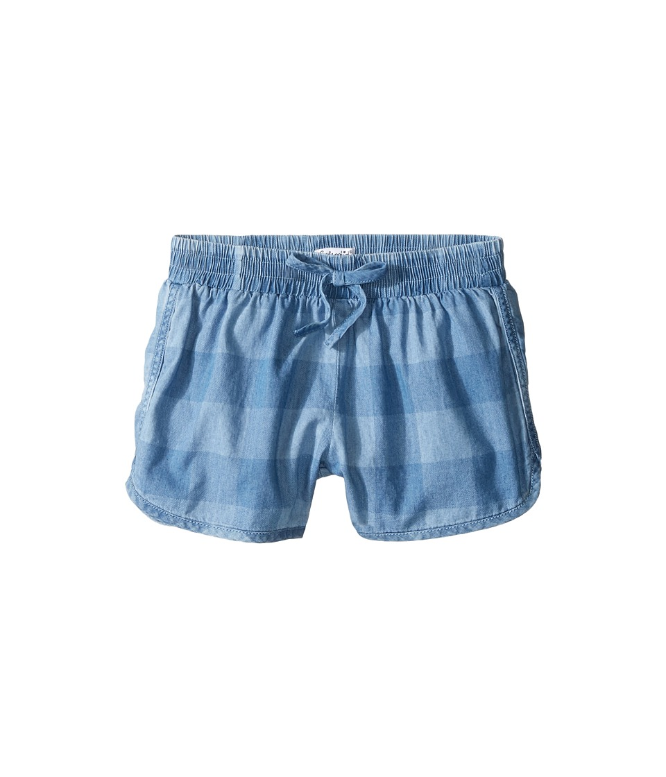 Splendid Littles - Gingham Check Shorts (Big Kids) (Chambray) Girl's Shorts