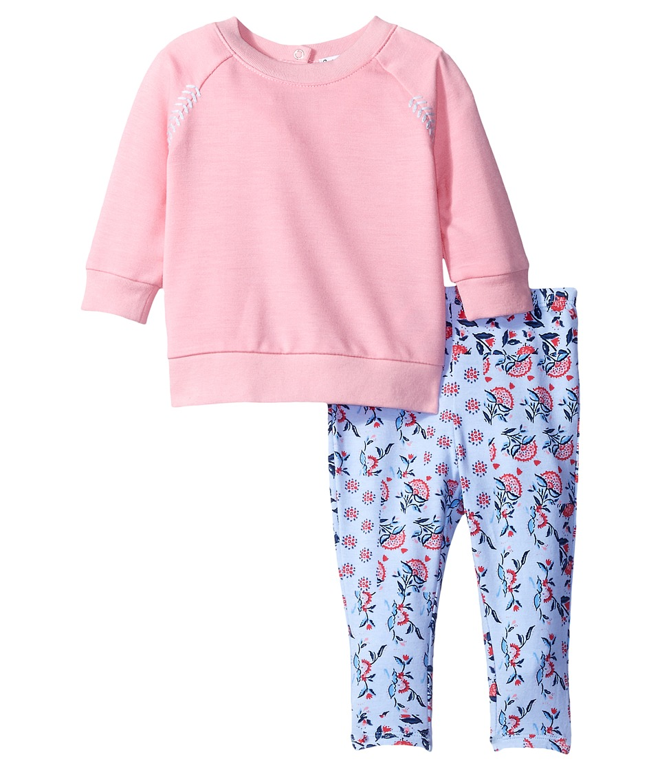 Splendid Littles - Whipstitch Pullover with Printed Leggings (Infant) (Pink) Girl's Active Sets