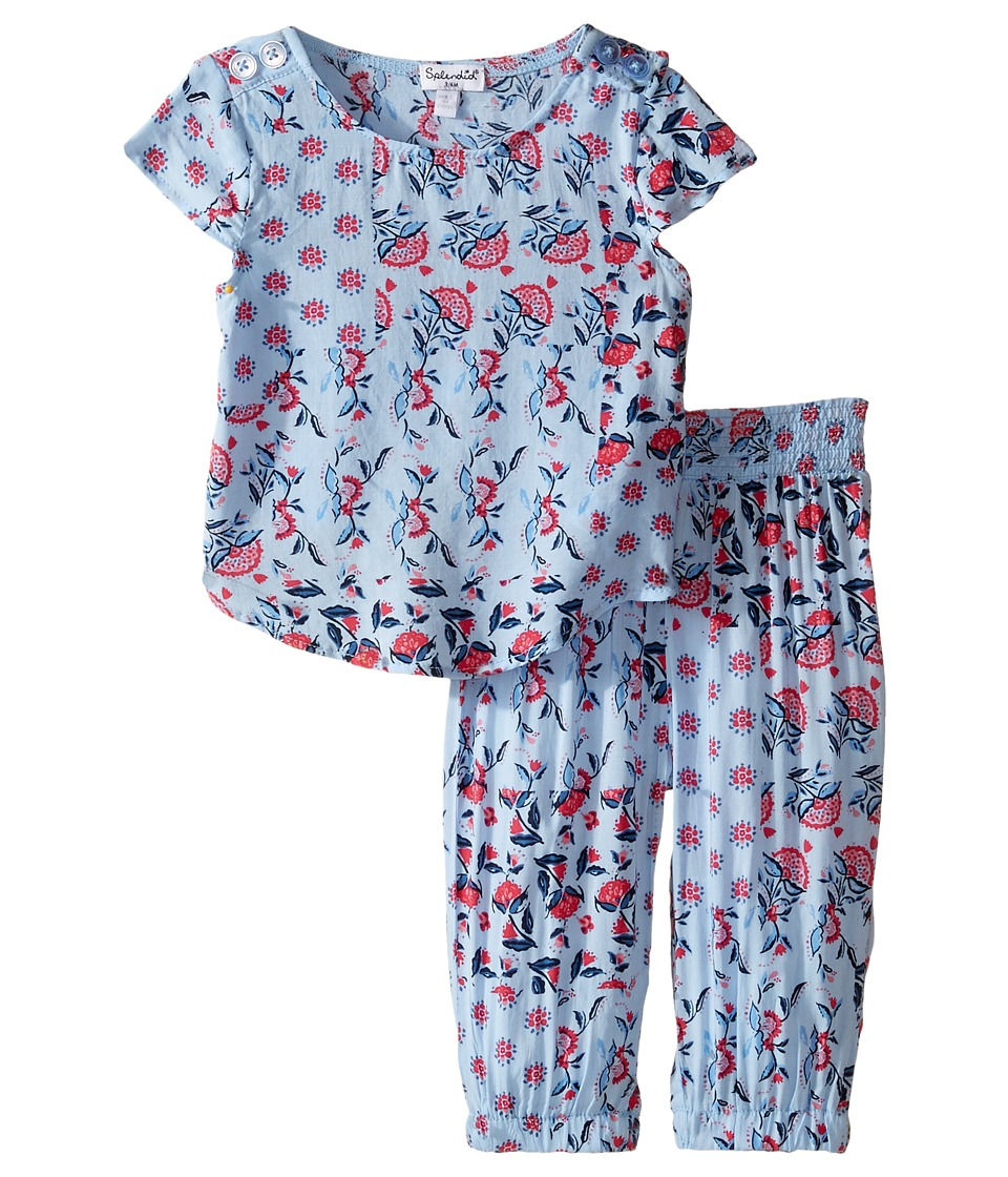 Splendid Littles - All Over Print Cross Back Top Set (Infant) (Print) Girl's Active Sets