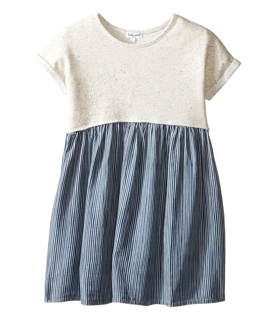 Splendid Littles - Mixed Striped Dress (Little Kids) (Navy) Girl's Dress
