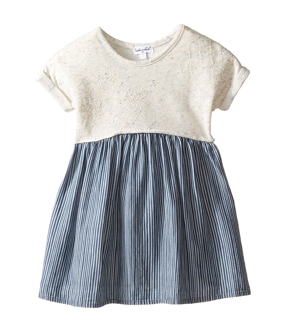 Splendid Littles - Mixed Striped Dress (Toddler) (Navy) Girl's Dress