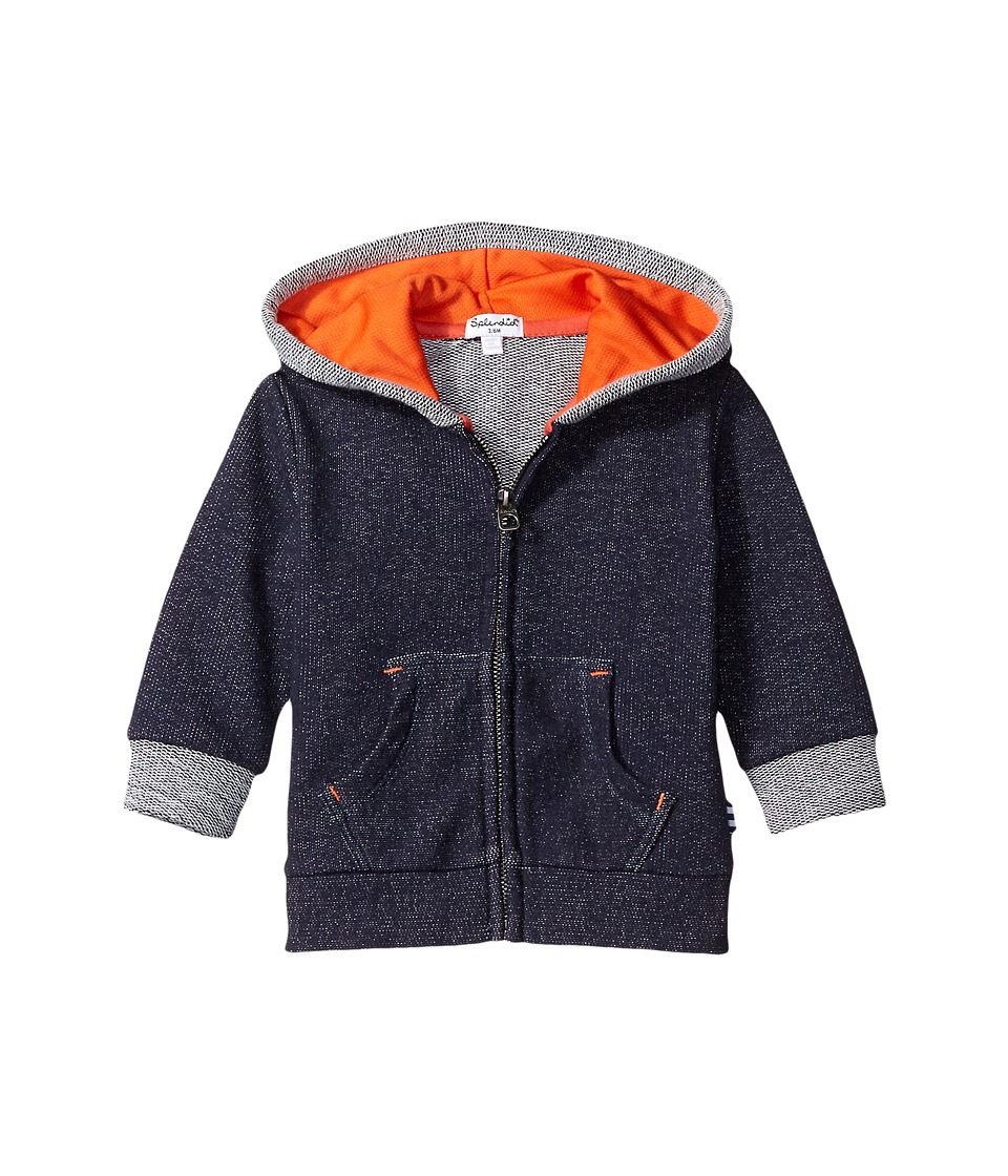 Splendid Littles - French Terry Mesh Zip-Up Hoodie (Infant) (Indigo) Boy's Sweatshirt