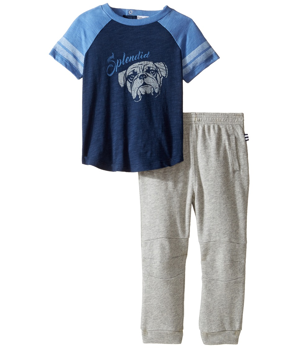 Splendid Littles - Athletic Set with French Terry Pants (Infant) (Navy) Boy's Active Sets