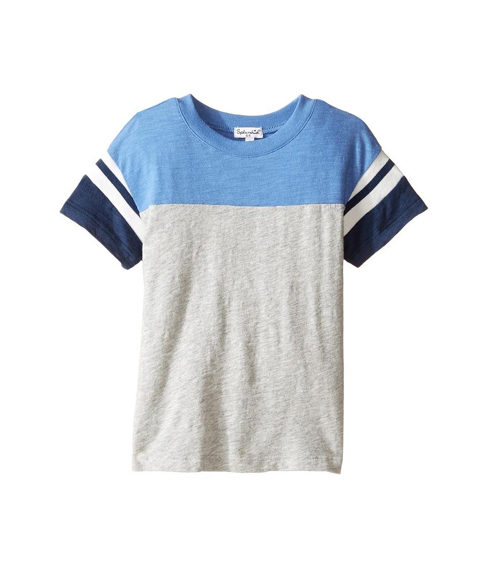 Splendid Littles - Short Sleeve Football Tee (Little Kids) (Grey Heather) Boy's T Shirt