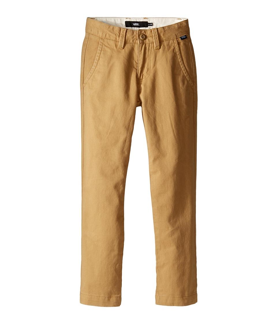 Vans Kids - Authentic Chino Pants (Little Kids/Big Kids) (New Mushroom Brown) Boy's Casual Pants