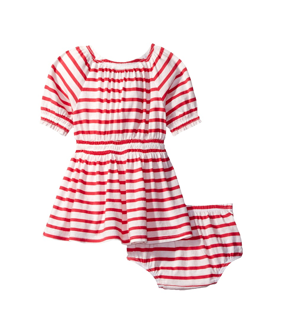 Splendid Littles - Off the Shoulder Striped Dress (Infant) (Dark Coral) Girl's Dress