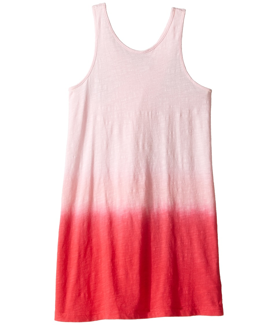 Splendid Littles - Dip-Dye Cross Back Dress (Little Kids) (Dark Coral) Girl's Dress