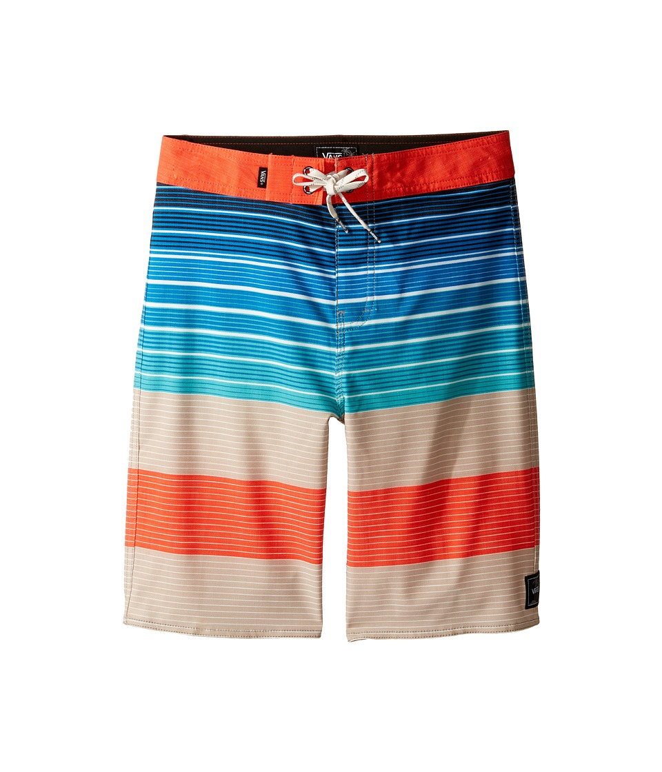 Vans Kids - Era Stretch Boardshorts (Little Kids/Big Kids) (Khaki Compass Stripe) Boy's Swimwear
