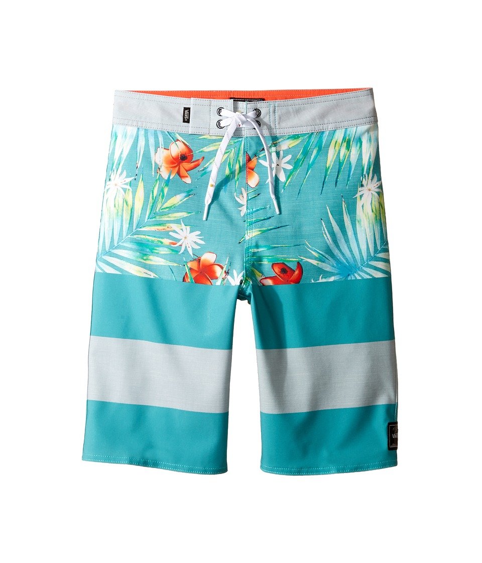 Vans Kids - Era Stretch Boardshorts (Little Kids/Big Kids) (Baltic Decay Palm) Boy's Swimwear