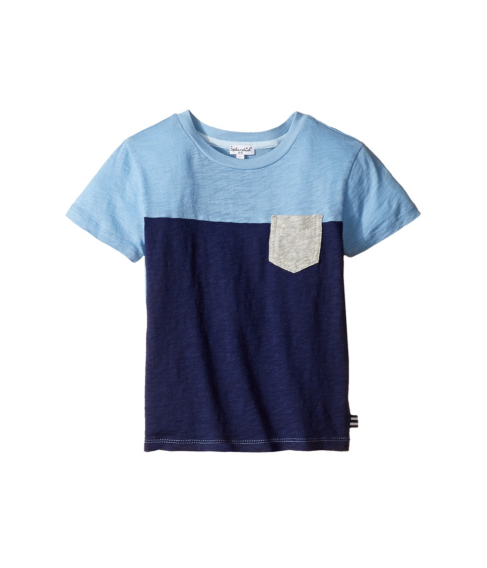 Splendid Littles - Short Sleeve Pocket Tee (Little Kids/Big Kids) (Blue) Boy's Clothing