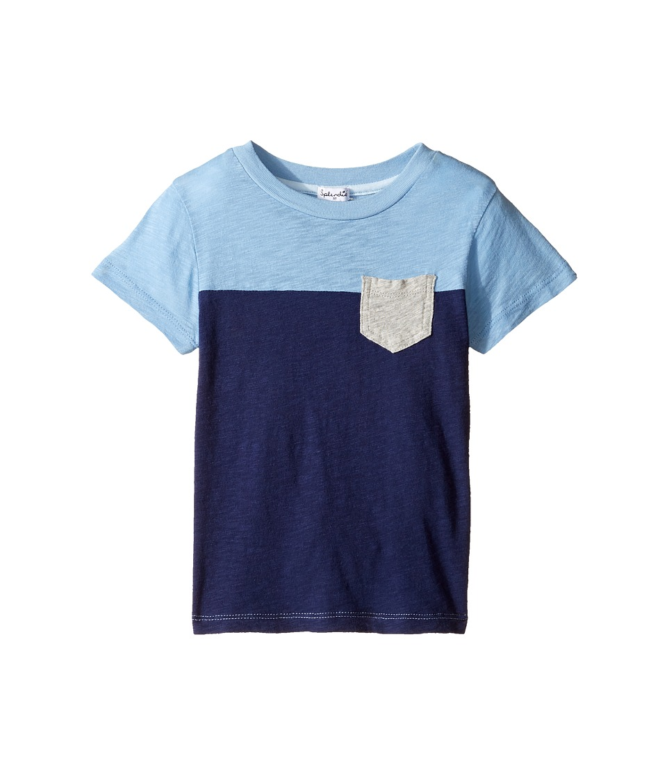 Splendid Littles - Short Sleeve Pocket Tee (Toddler) (Blue) Boy's Clothing