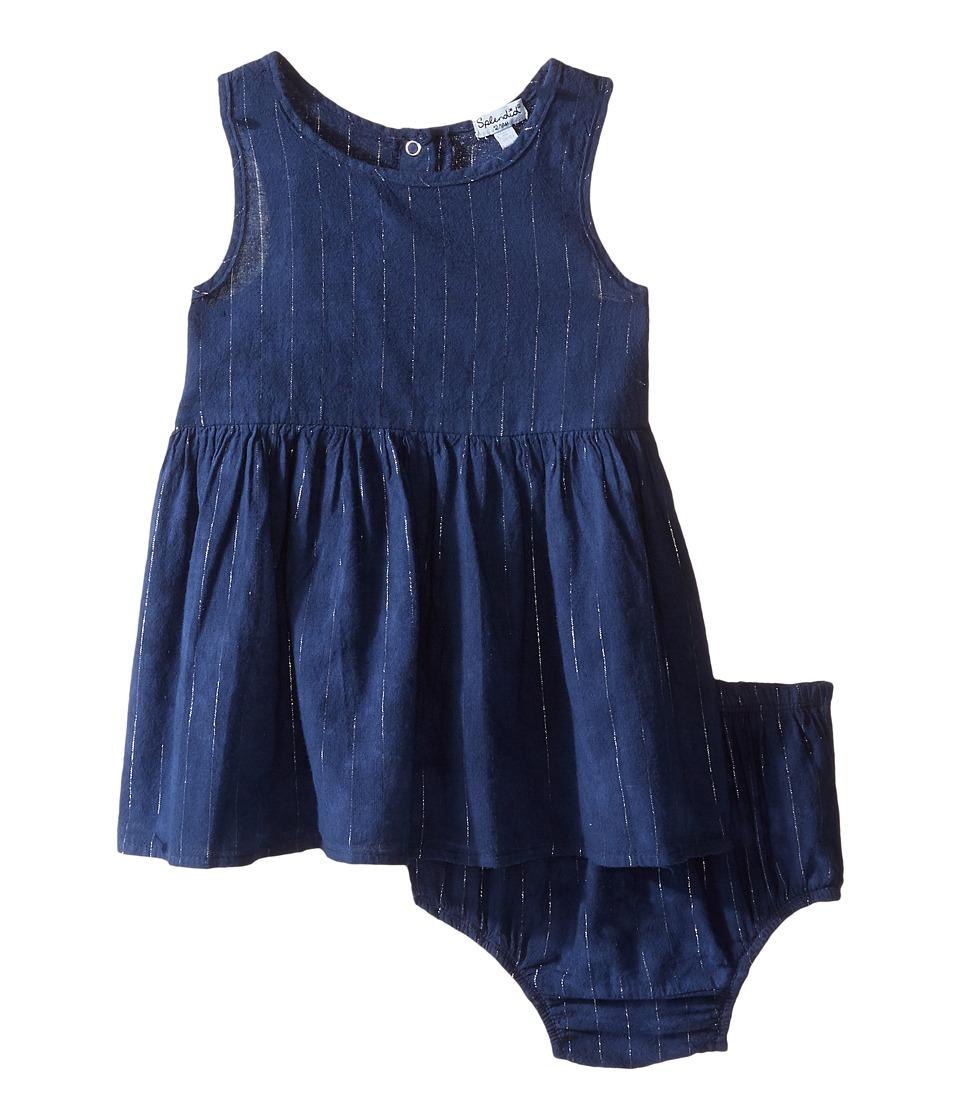 Splendid Littles - Tie-Dye Tank Top with Lurex Stripe Dress (Infant) (Navy) Girl's Dress