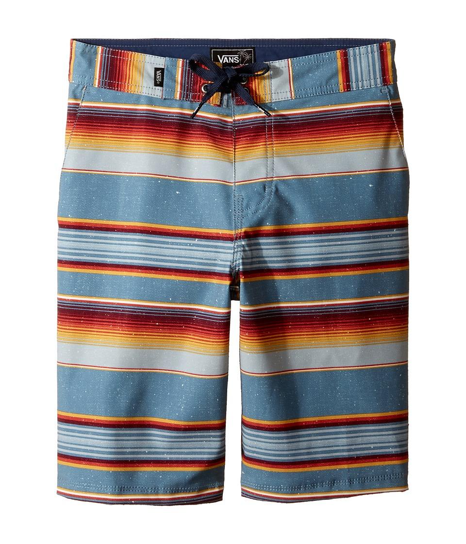 Vans Kids - Rockaway Stretch Boardshorts (Little Kids/Big Kids) (Blue Mirage Rockaway Stripe) Boy's Swimwear