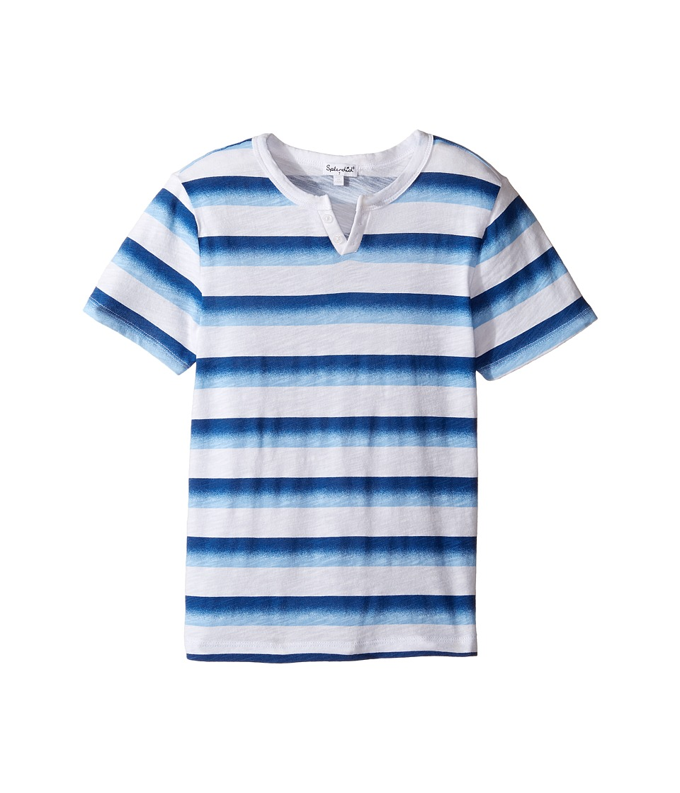 Splendid Littles - Ombre Printed Stripe Tee (Little Kids/Big Kids) (Blue) Boy's Clothing
