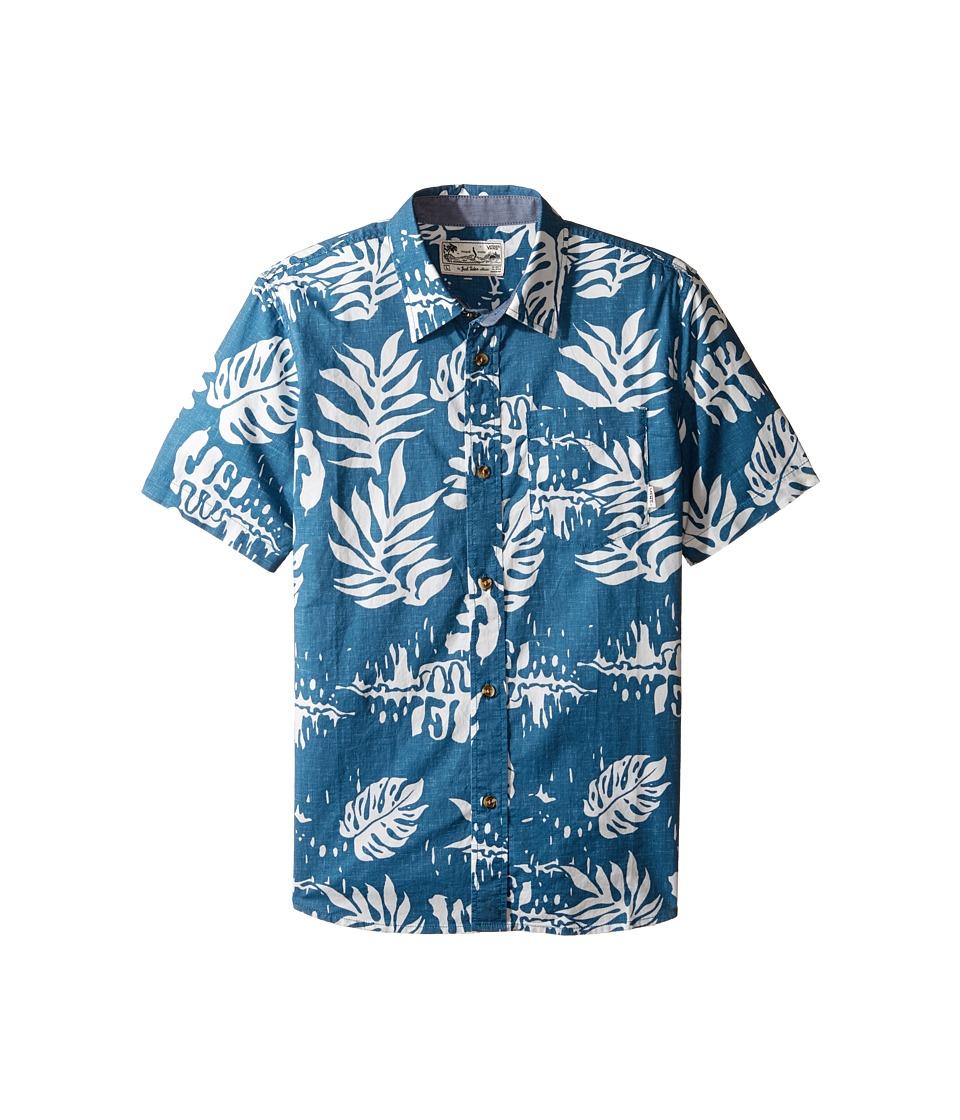 Vans Kids - JT Solana Short Sleeve Woven Shirt (Big Kids) (Blue Ashes) Boy's Short Sleeve Pullover