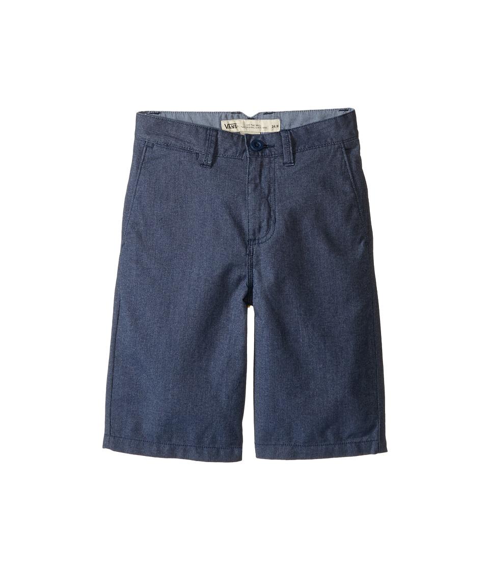 Vans Kids - Dewitt Walkshorts (Little Kids/Big Kids) (Dress Blues Heather) Boy's Shorts