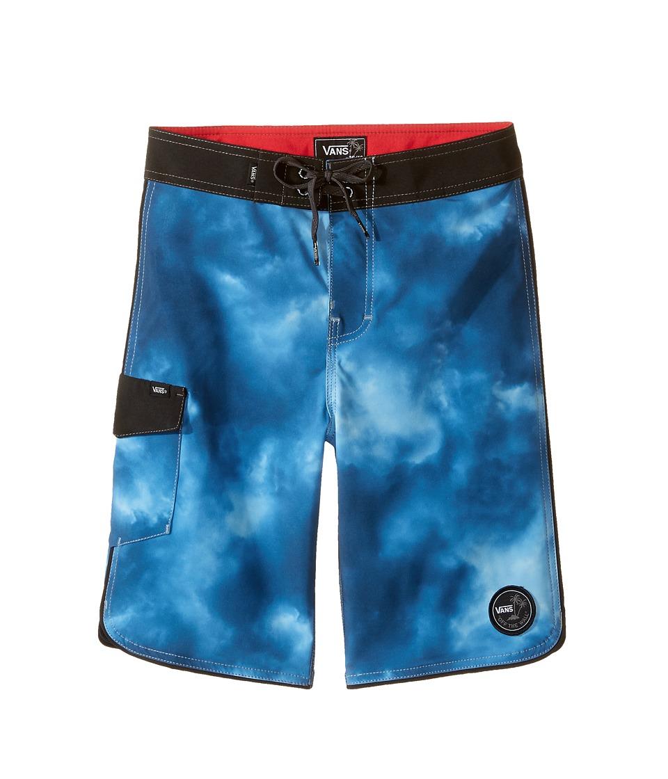 Vans Kids - Mixed Scallop Boardshorts (Little Kids/Big Kids) (Dark & Stormy) Boy's Swimwear