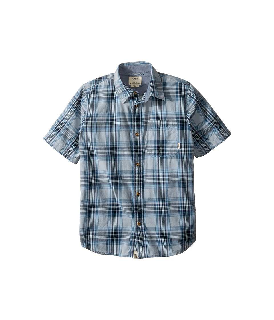 Vans Kids - Hollington Short Sleeve Woven Shirt (Big Kids) (Quarry) Boy's Short Sleeve Pullover