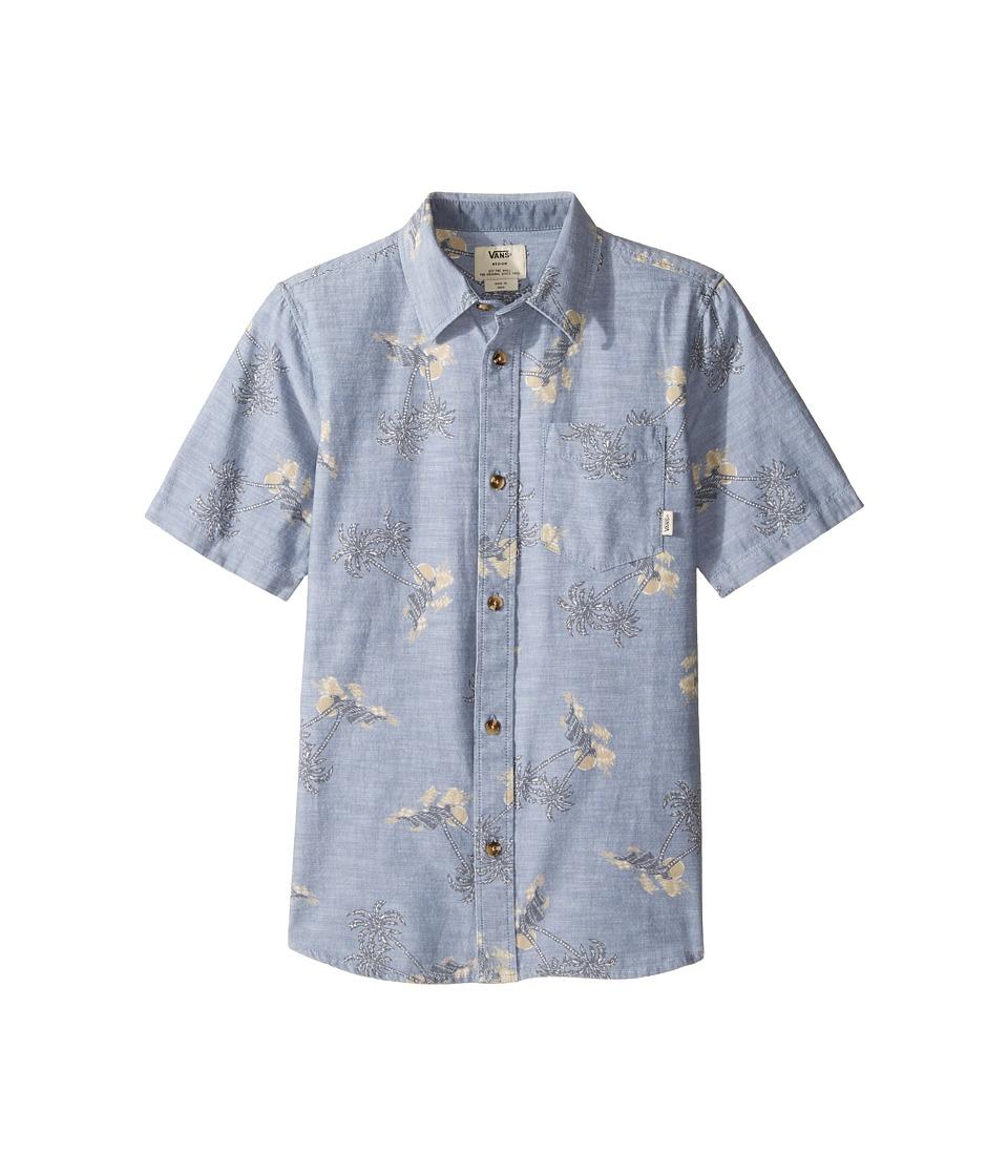 Vans Kids - Salado Short Sleeve Woven Shirt (Big Kids) (Blue Mirage Havana Floral) Boy's Short Sleeve Pullover