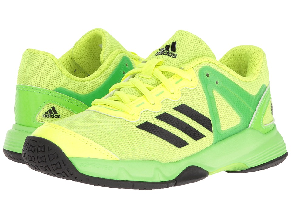 adidas Kids - Court Stabil (Little Kid/Big Kid) (Solar Yellow/Black/Solar Green) Kids Shoes