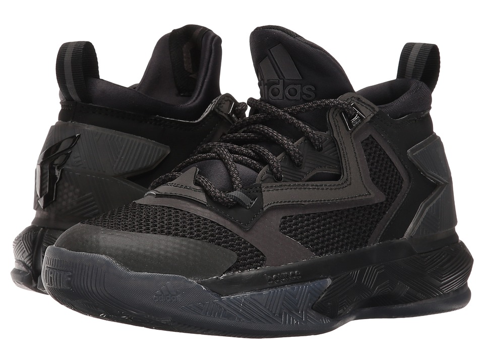 adidas Kids D Lillard 2 (Big Kid) (Black/Black/Black) Kids Shoes