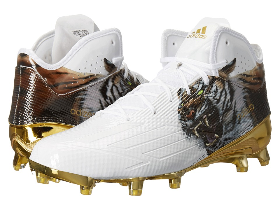 adidas Adizero 5-Star 5.0 Mid Uncaged (White/White/Gold Metallic 1) Men