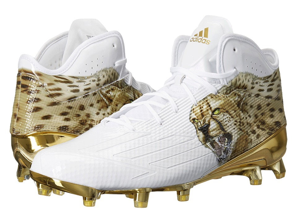 adidas Adizero 5-Star 5.0 Mid Uncaged (White/White/Gold Metallic) Men