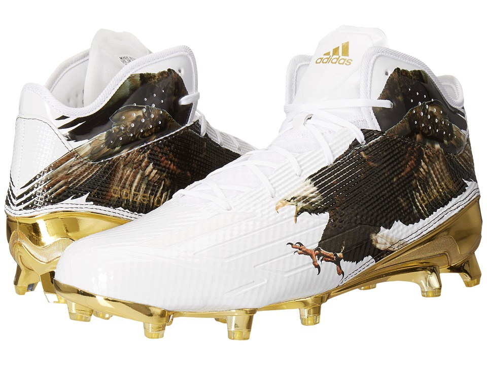 adidas Adizero 5-Star 5.0 Mid Uncaged (White/White/Gold Metallic 3) Men
