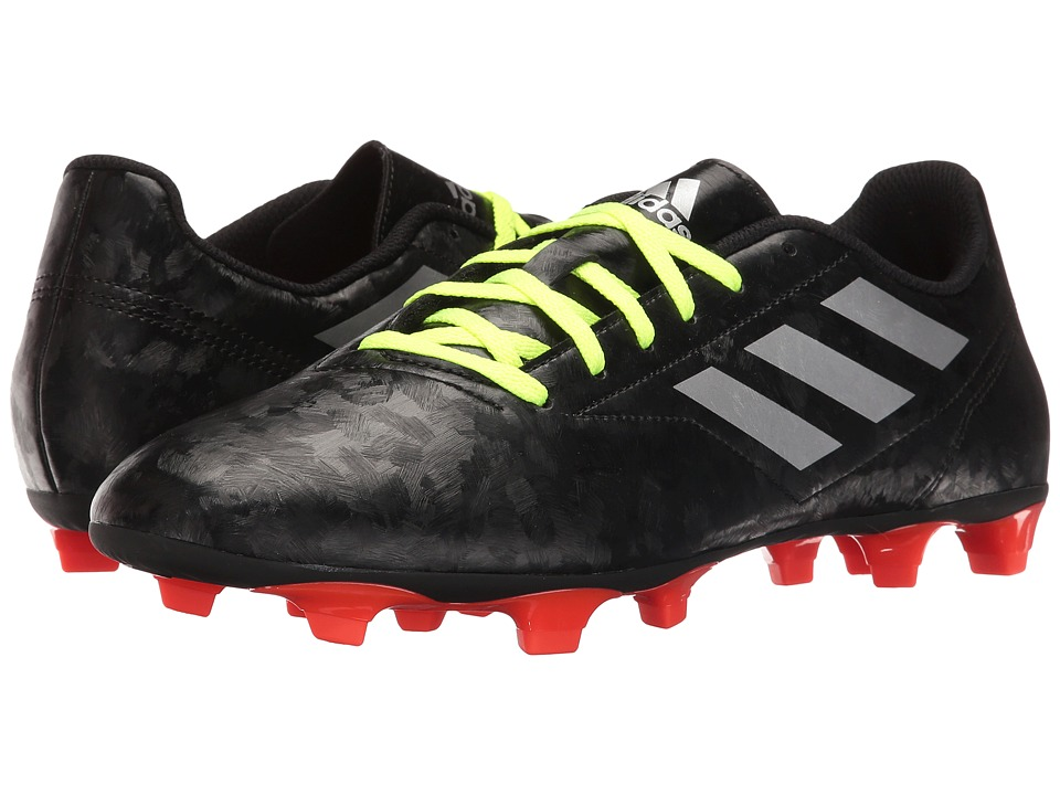 adidas - Conquisto II FG (Black/Silver Metallic/Solar Red) Men's Shoes