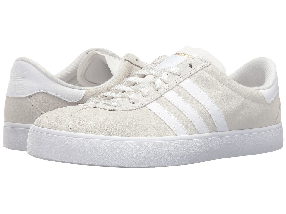 adidas - Skate ADV (Crystal White/White/Gold Metallic) Men's Shoes