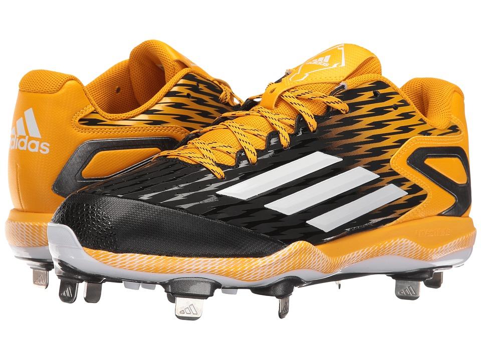 adidas - PowerAlley 3 (Black/White/Gold) Men's Shoes