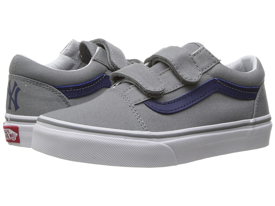 Vans Kids - Old Skool V x MLB (Little Kid/Big Kid) ((MLB) New York/Yankees/Grey) Kids Shoes