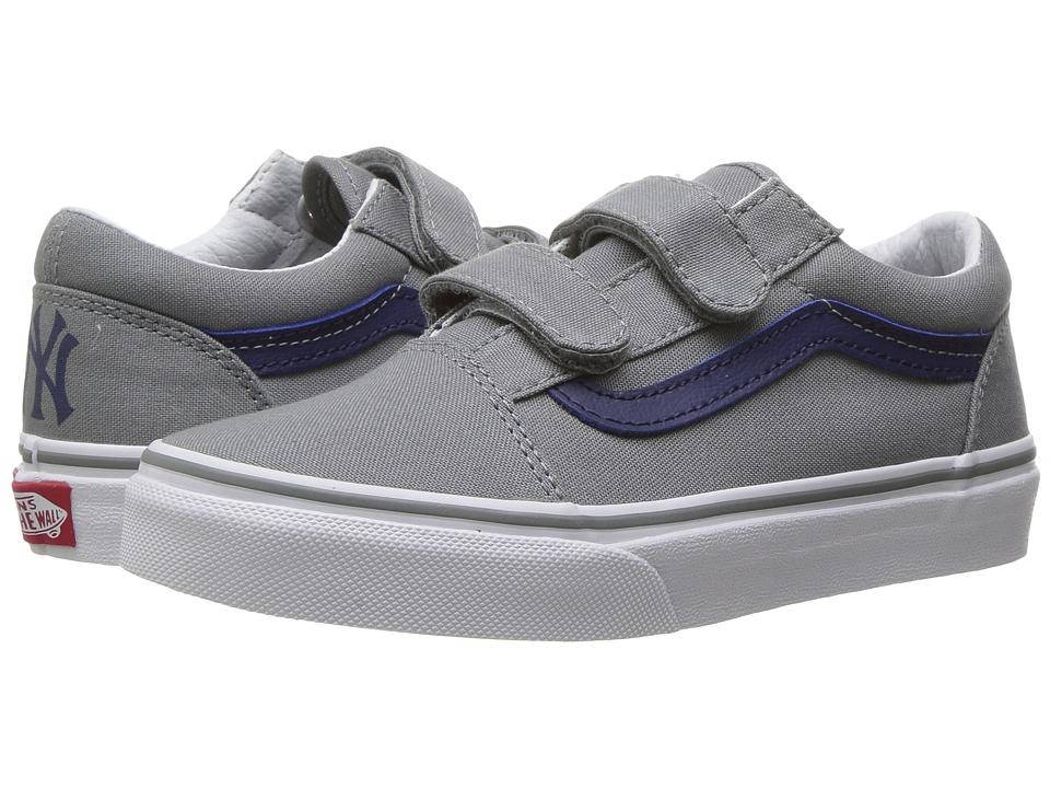 Vans Kids - Old Skool V x MLB (Little Kid/Big Kid) ((MLB) New York/Yankees/Grey) Kids Shoes