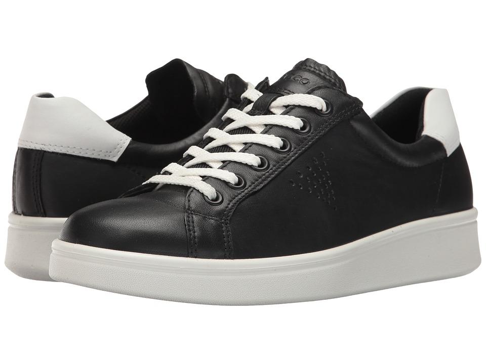 ECCO - Soft 4 Sneaker (Black/White) Women's Shoes