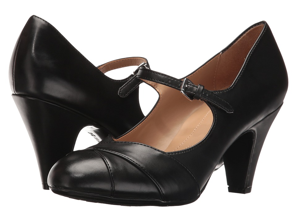 Naturalizer - Layton (Black Smooth) Women's Shoes