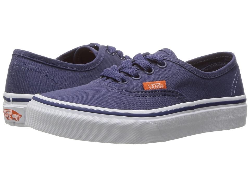 Vans Kids - Authentic (Little Kid/Big Kid) ((Pop Canvas) Crown Blue/True White) Boys Shoes