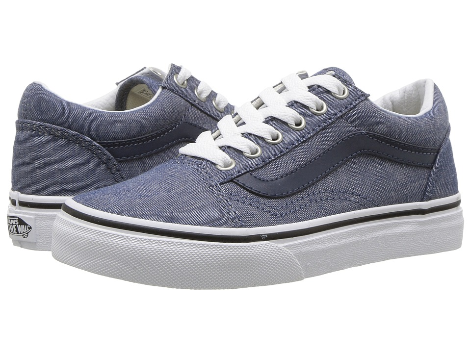 Vans Kids - Old Skool (Little Kid/Big Kid) ((C&L) Chambray/Blue) Boys Shoes