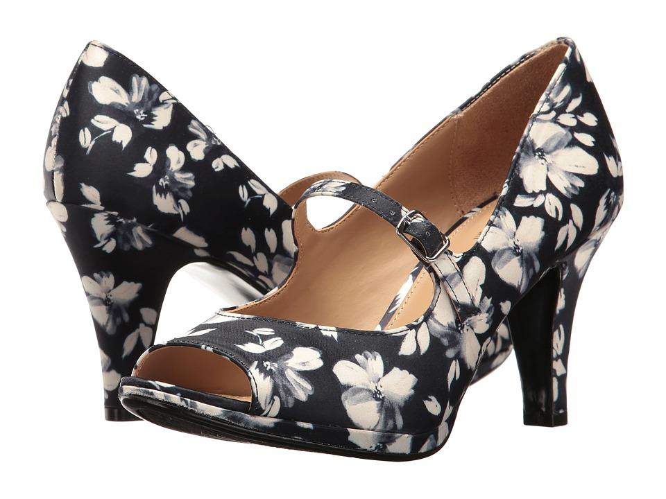 Naturalizer - Iris (Navy Floral) Women's Shoes