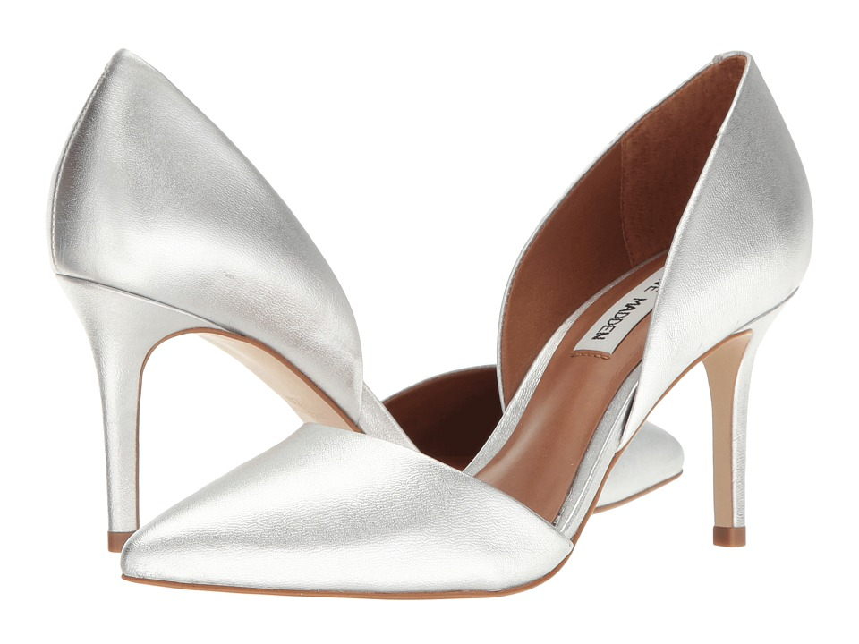 Steve Madden Actorr (Silver Leather) High Heels
