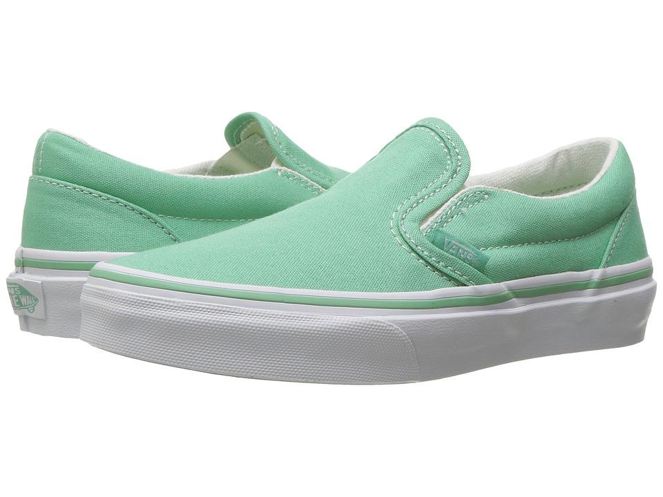 Vans Kids - Classic Slip-On (Little Kid/Big Kid) ((Canvas) Neptune/True White) Girls Shoes