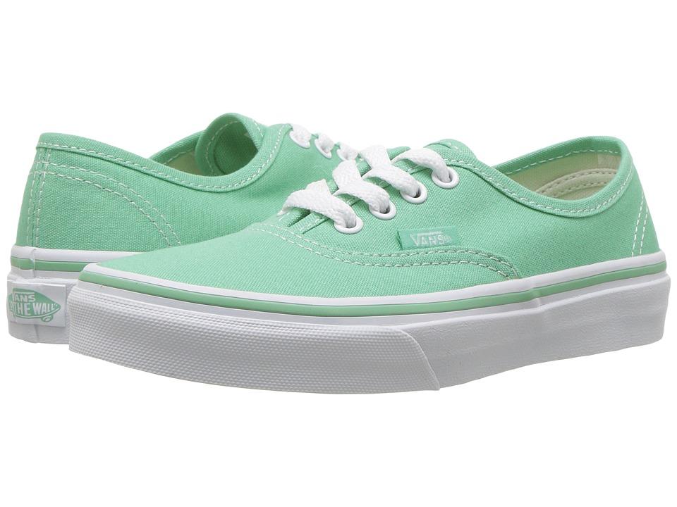Vans Kids Authentic (Little Kid/Big Kid) ((Canvas) Neptune/True White) Girls Shoes
