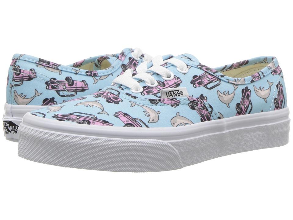 Vans Kids - Authentic (Little Kid/Big Kid) ((Spring Multi) Crystal Blue/True White) Girls Shoes