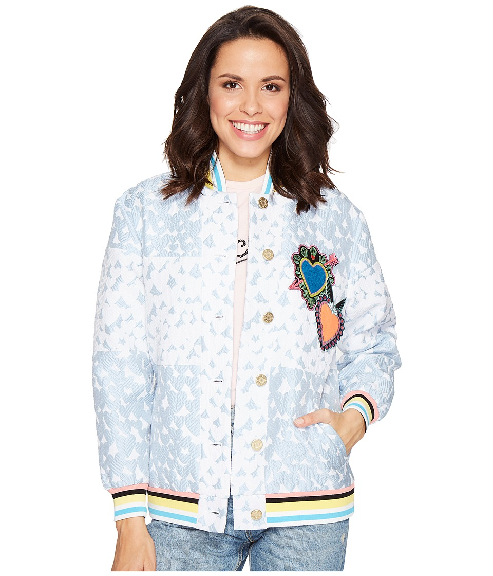 HOUSE OF HOLLAND - Heart Varsity Jacket (Blue) Women's Coat