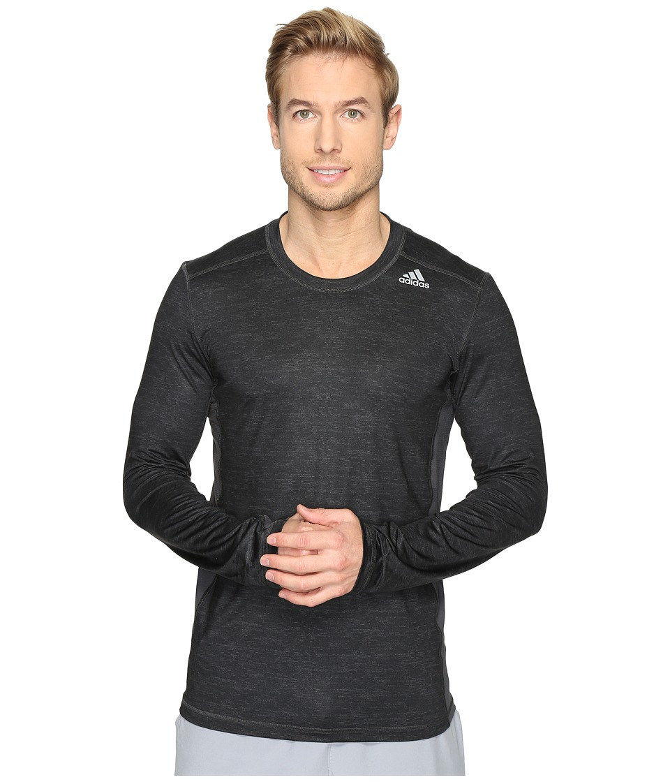 adidas - Techfit Fitted Tee (Dark Grey) Men's T Shirt